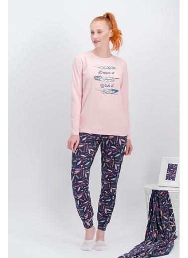 Arnetta Arnetta Dream İnci Pembe Kadın Pijama Takımı Pembe
